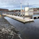 Tampere Naistenlahti aallonvaimentajalaituri